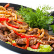 Traditional mexican beef fajitas — Stock Photo