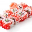 California sushi rolls on white isolated — Stock Photo