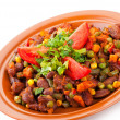 Traditional mexican chili with kidney beans — Stock Photo