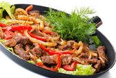 Traditional mexican beef fajitas — Stock Photo