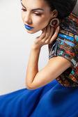 Módní umění dívka portrét — Stock fotografie