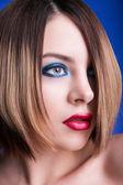 Fashion Woman Portrait. Stylish Makeup — 图库照片