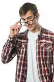 Jovem com óculos — Fotografia Stock