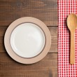 Plate on table — Stock Photo #48763663