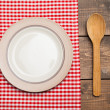 Plate on table — Stock Photo #48763667