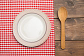 Plate on table — Stock Photo