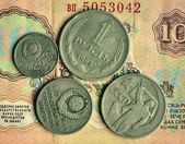 Money.Coins.USSR coins. — Stock Photo