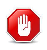 Inga posten hand tecken — Stockfoto