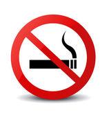 Rökning förbjuden-skylt — Stockfoto