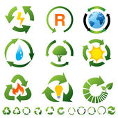 Vector set of environmental recycling icons — Stock Photo