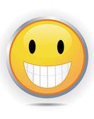 Smiley em branco — Fotografia Stock