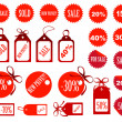 Stock Photo: Set of tags fully editable vector illustration