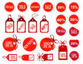 Set of tags fully editable vector illustration — Stock Photo