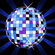 Retro disco ball,vector illustration - Stock Photo