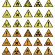 Stock Photo: Chemical hazard signs vector illustration