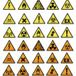 Chemical hazard signs vector illustration — Stock Photo #18736319