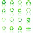Recycle icons vector — Stock Photo #18736355