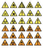 Chemical hazard signs vector illustration — Stock Photo
