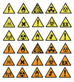 Chemical hazard signs vector illustration — Stock Photo