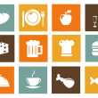 Royalty-Free Stock Photo: Kitchen and food icons