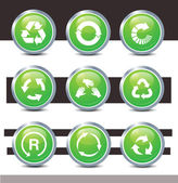 Recycle icons vector — Stock Photo