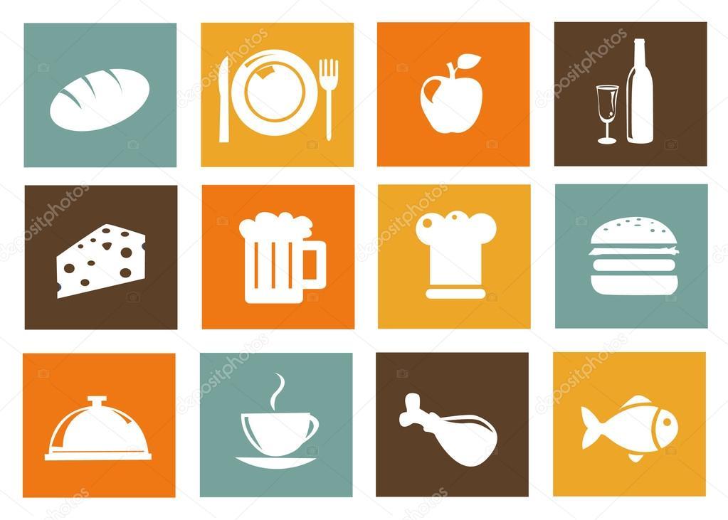 厨房食品矢量图