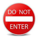 Do Not Enter warning sign — Stock Photo