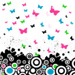 Royalty-Free Stock Photo: Vector background with butterfly