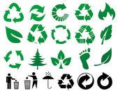 Sinais de reciclar vector — Foto Stock