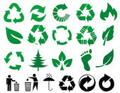 Vector recycle signs — Stockfoto