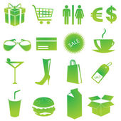 Shopping icons vector — Stock Photo