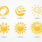 Set of sun vector — Stock Photo #25053217