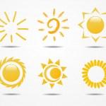Set of sun vector — Stock Photo #25053223