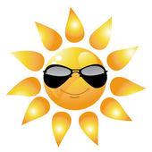 Vector Cartoon Sun Character — Stock Photo