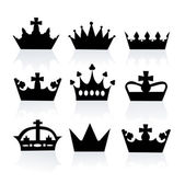 Vector illustration of different crowns — Stock Photo