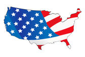 Usa map with map background — Stock Photo