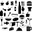 Kitchen and food icons — Stock Photo #28033475