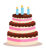 Sweet cake for birthday holiday — Stock Photo