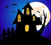 Halloween tło z domu — Zdjęcie stockowe