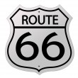 Glossy route sixty six icon — Stock Photo