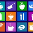Kitchen and food icons  — Stock Photo