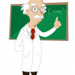 Funny cartoon scientist  — 图库照片