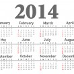 2014 calendar — Stock Photo #33512183