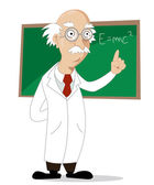 Funny cartoon scientist — Stock Photo