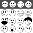 Vector set of glossy Emoticons  — Stock Photo