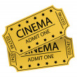 Stock Photo: Cinema tickets