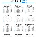 2014 calendar — Stock Photo #35777637