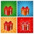 Set of colorful gift boxes — Stock Photo #36590375