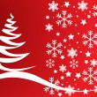 Abstract vector Christmas tree background — Stock Photo