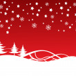 Christmas Background fully editable vector illustration — Stock Photo